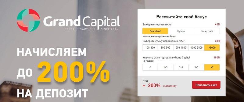 Grand Capital bonus deposit